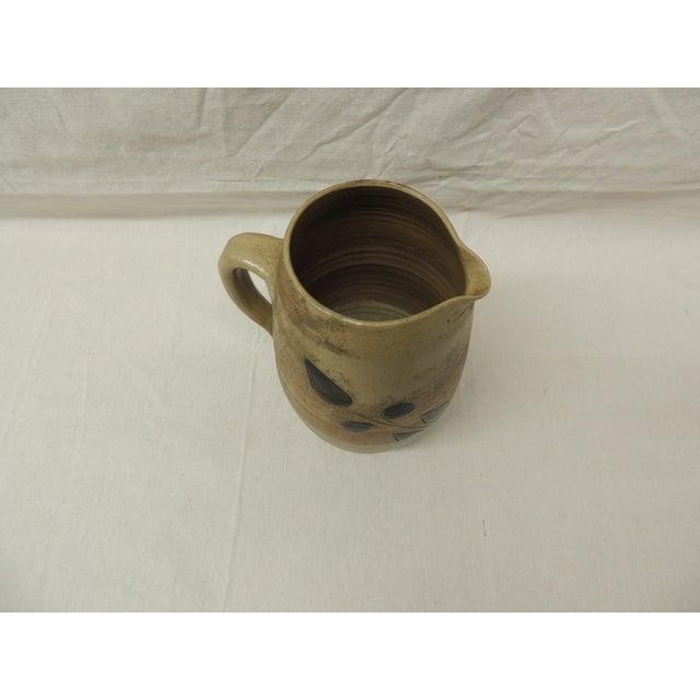 Vintage Glazed Stoneware Water Pitcher - Image 3 of 4