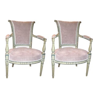 French Directoire Fauteuils - a Pair For Sale