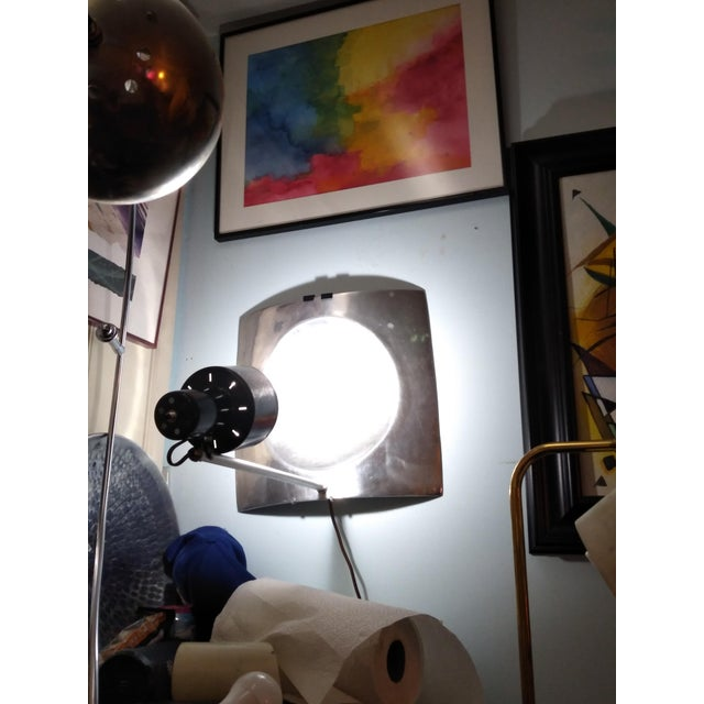 1970s Vintage Mid Century Style Reflector Wall/Ceiling Light For Sale In San Diego - Image 6 of 12