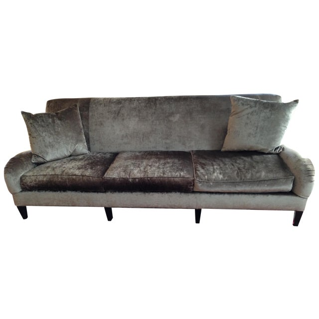 Hickory Chair Emory Sofa in Silver/Grey Velvet - Image 1 of 4