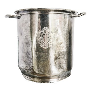 Vintage Silver Plated Champagne Bucket From The Plaza NYC For Sale