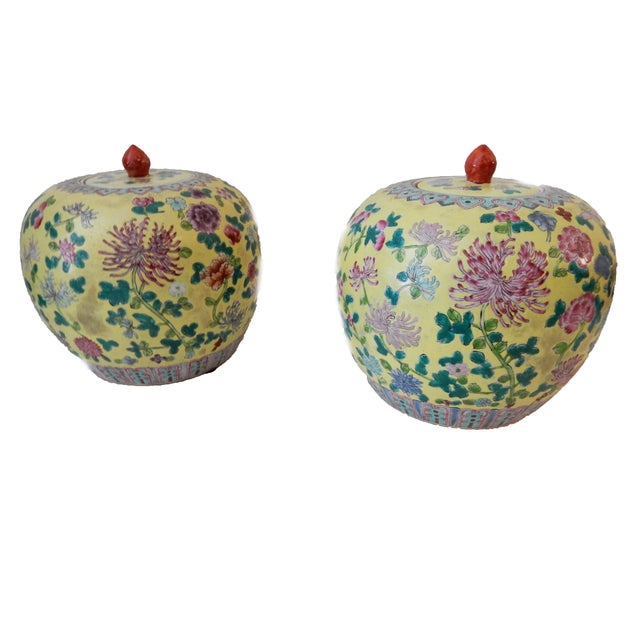 Famille Jaune Ginger Jars - A Pair - Image 6 of 8