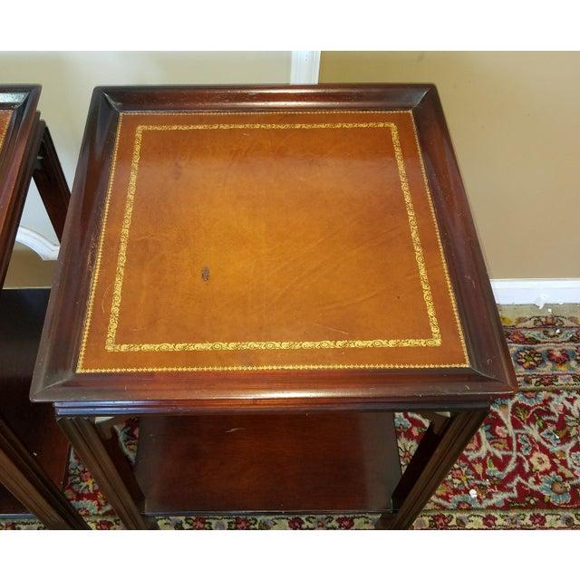 Pair Mahogany Leather Top 1950s Gordon S Fine Furniture
