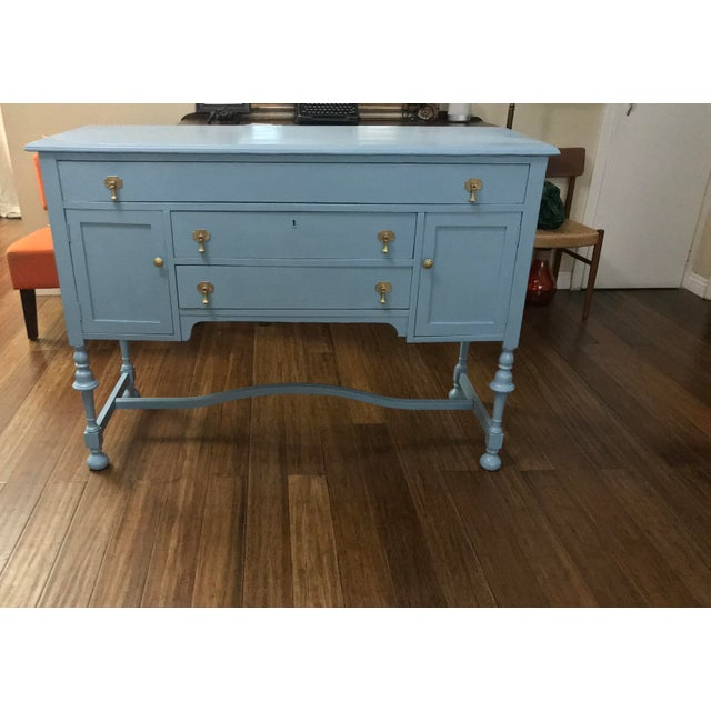 Blue Wood Buffet - Image 8 of 9