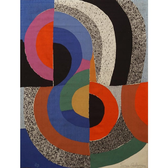 """Modern Tapestry Designed by Sonia Delaunay, Woven by Pierre Daquin - """"Hippocampe"""" For Sale"""