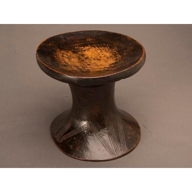 1920s Carved wood stool from Zimbabwe, Africa c.1920 For Sale - Image 5 of 6