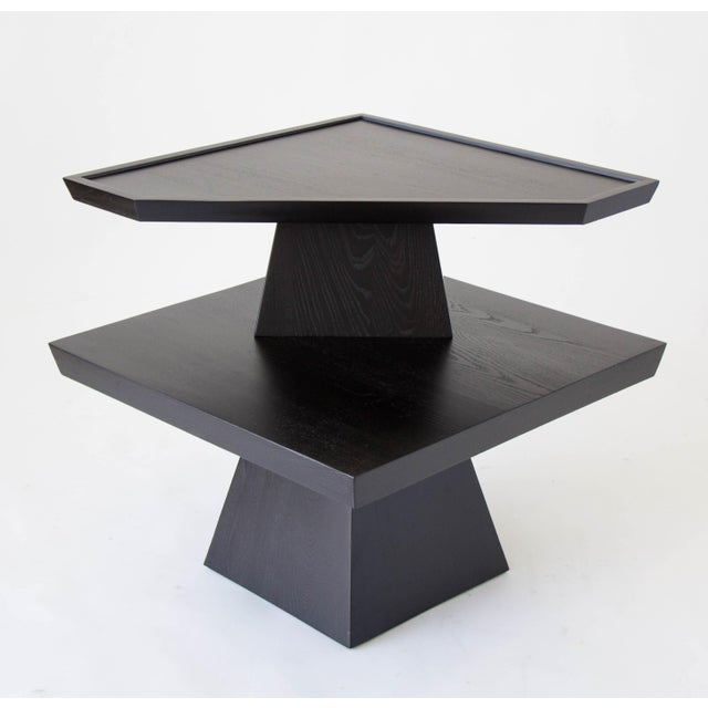 Brutalist Two-Tiered End Table - Image 3 of 11