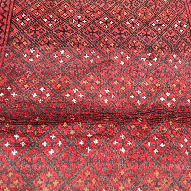 """Islamic Patterned Afghan Wool Rug - 3'6"""" X 5'8"""" For Sale - Image 3 of 13"""