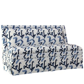 Image of Navy Blue Settees