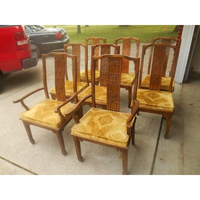 Century furniture mid greek key dining chairs