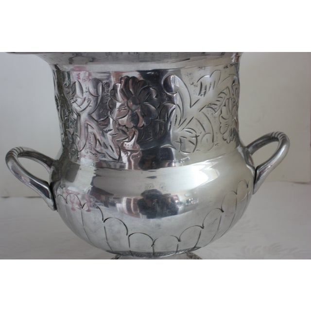Etched Silver Metal Wine Bucket - Image 3 of 3