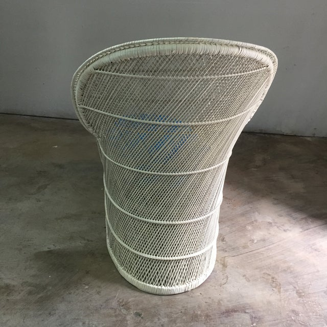 Vintage Bohemian Wicker Rattan Lounge Chair For Sale - Image 5 of 7