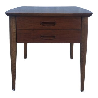 Mid Century Modern Single Drawer End Table by Lane For Sale