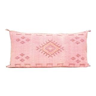 Moroccan Sabra Cactus Silk Pillow Lumbar For Sale