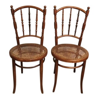 19th Century Traditional Jacob & Josef Kohn Bentwood Chairs - a Pair For Sale