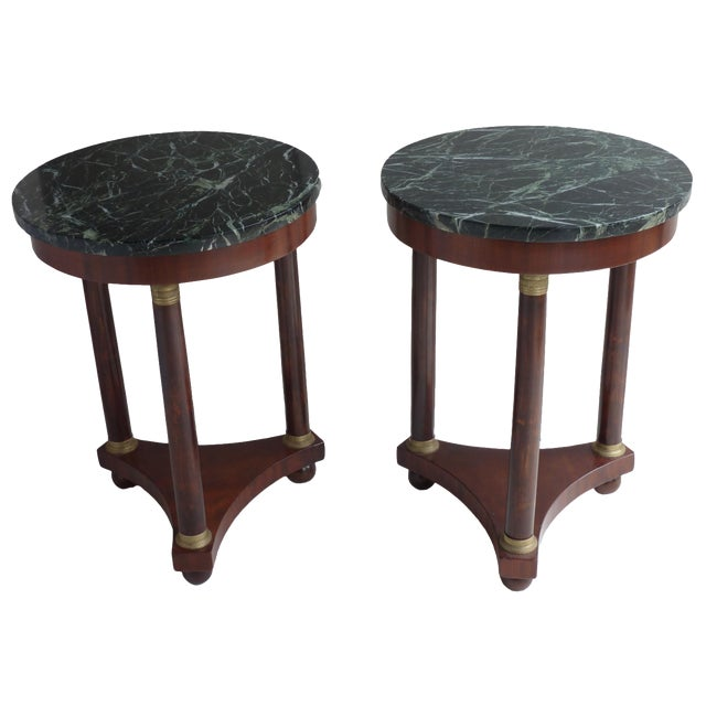 French Empire-Style Side Tables - A Pair - Image 1 of 7