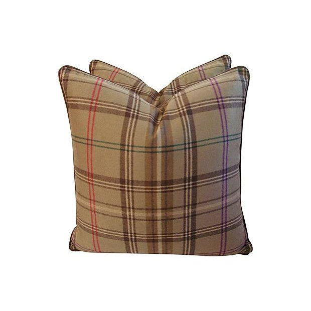 Ralph Lauren Wightwick Plaid Pillows - A Pair - Image 4 of 7