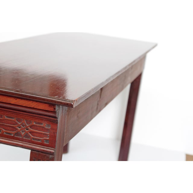 Late 18th Century George III Mahogany Side/Serving Table For Sale - Image 5 of 10