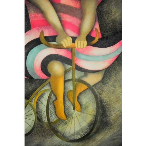 "Limited Lithograph ""Girl on Tricycle"" by Graciela Rodo Boulanger - Image 5 of 8"