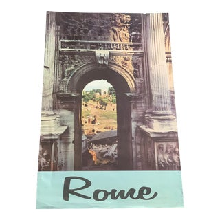 1960s Rome Travel Poster For Sale