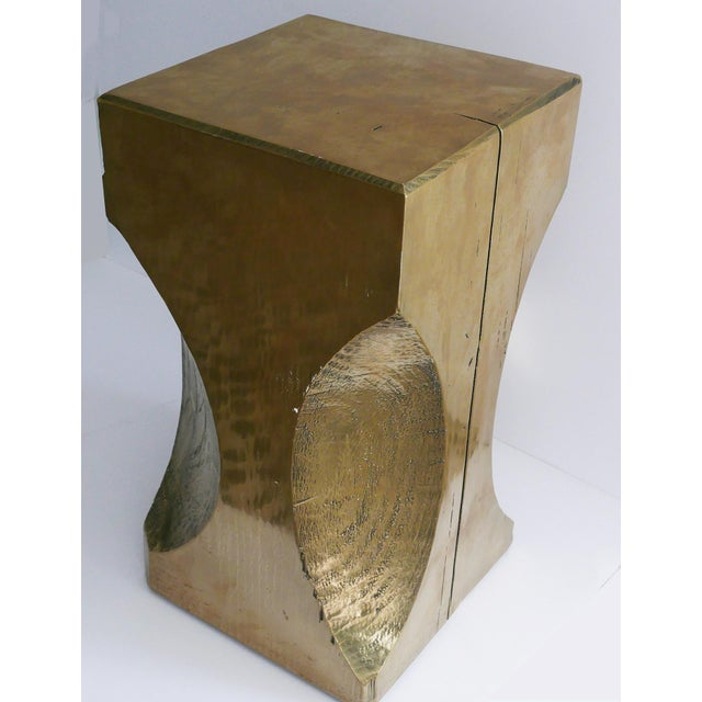 Bespoke Metallic Stool For Sale In Palm Springs - Image 6 of 8