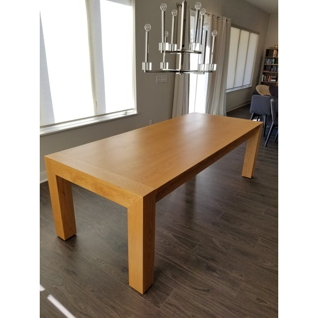 Contemporary Contemporary Mitchell Gold + Bob Williams Oak Dining Table For Sale - Image 3 of 7