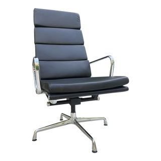 Vintage Modern Eames Style Soft Pad Lounge Chair For Sale