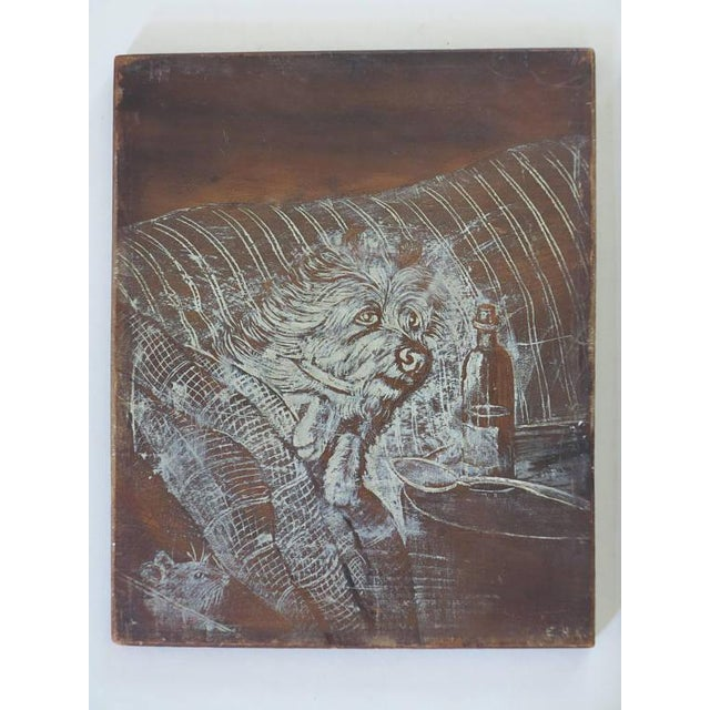 Victorian Late 19th Century English Victorian Pyrography Etchings on Charred Wood After Abbott Henderson Thayer - a Pair For Sale - Image 3 of 7