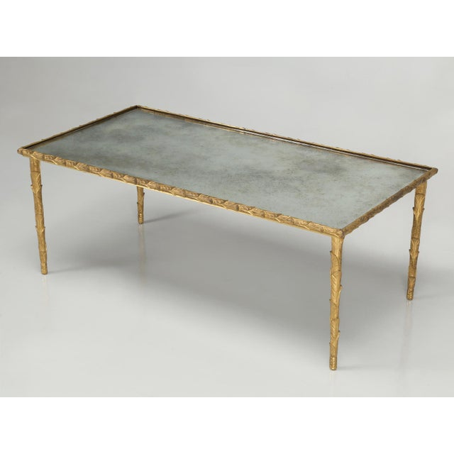 Baguès Solid Bronze Gilt Coffee Table For Sale - Image 13 of 13