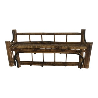 Late 20th Century Burnt Bamboo Wall Shelf For Sale