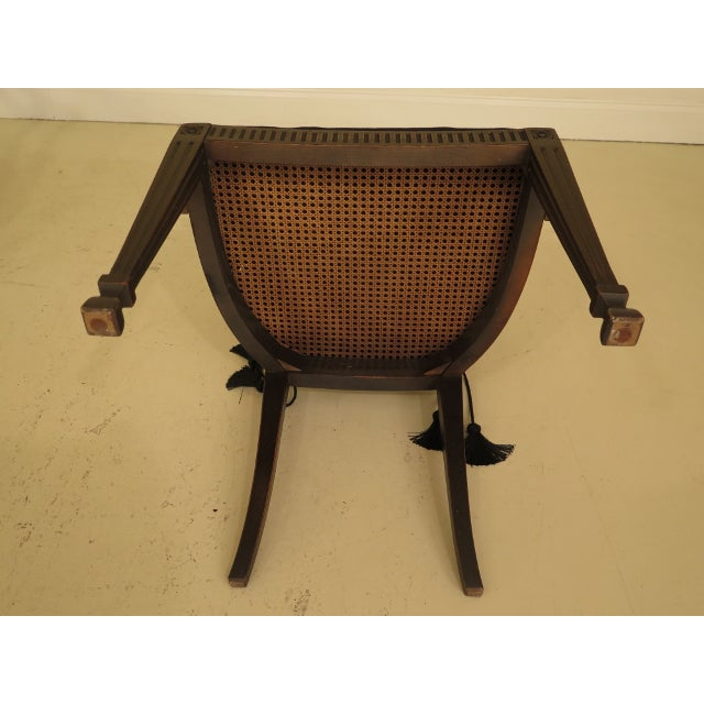Adam Style Cane Back & Seat Arm Chairs - a Pair For Sale - Image 12 of 13