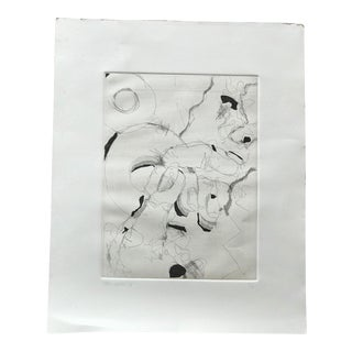 Abstract Black and White Drawing For Sale