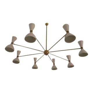 1960 Stilnovo Style Italian Diabolo Chandelier For Sale