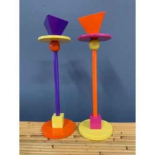 1980s Post Modern Candlesticks in the Style of Sottsass - a Pair Preview