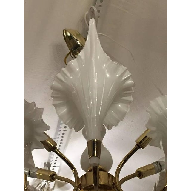 Mid-Century Italian Murano Chandelier For Sale - Image 4 of 9