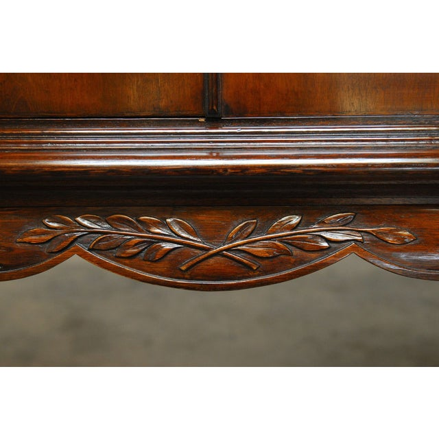 Louis XV Style Carved Walnut Cabinet on Stand - Image 7 of 10
