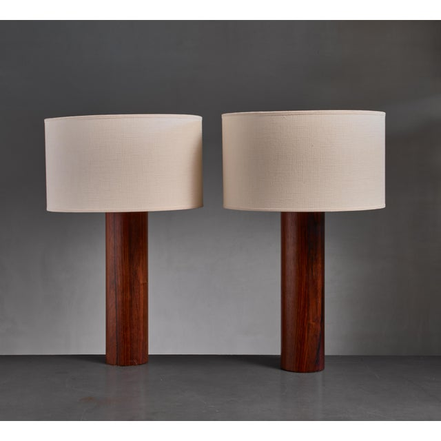 Mid-Century Modern Uno & Osten Kristiansson Table Lamps for Luxus, Sweden For Sale - Image 3 of 3