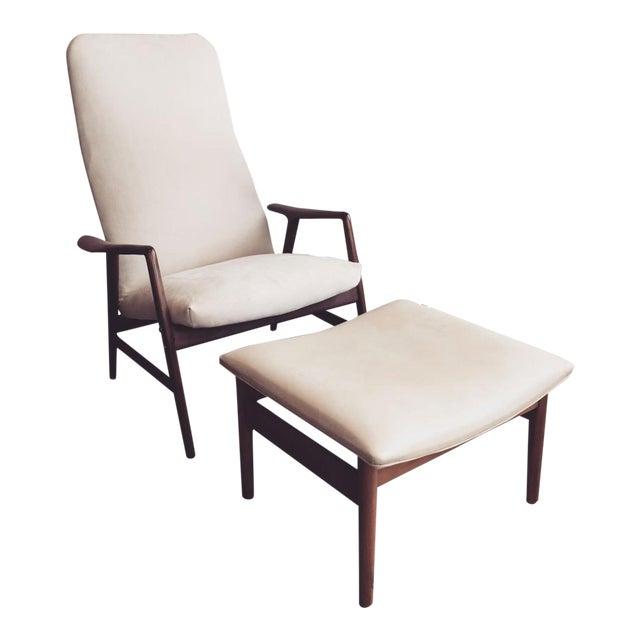 Alf Svensson Danish Reclining Lounge Chair & Ottoman - Image 1 of 7
