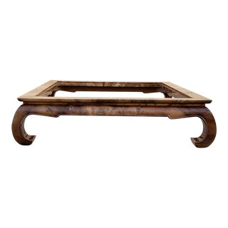 Jimeco Ltda Lacquered Goatskin Coffee Table Base, 1970s Vintage Ming Style, Free u.s. Shipping For Sale