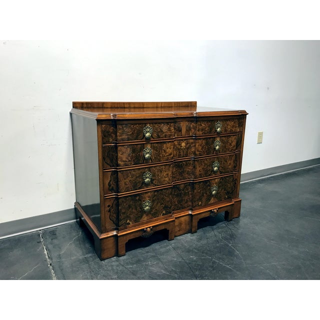 Early 20th Century Burl Walnut Block Front Bachelor Chest of Drawers - Image 3 of 11