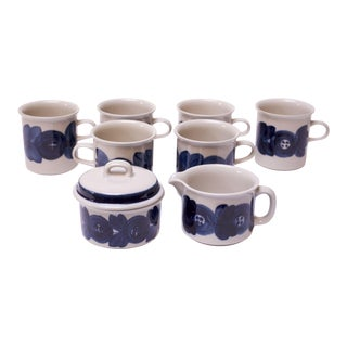 "Arabia of Finland ""Anemone"" Porcelain Tea Set For Sale"