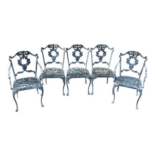 Vintage Garden Dining Chairs - Set of 5 For Sale