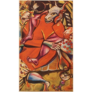 """1947 Marc Chagall """"Homage to the Fiancee"""", First Edition Period Swiss Lithograph For Sale"""