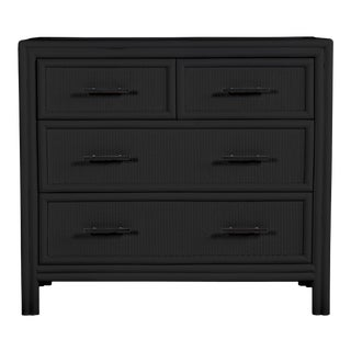 Bermuda Four-Drawer Chest - Black For Sale
