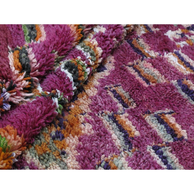 Moroccan Boujad Wool Rug - 6′3″ × 9′4″ For Sale In New York - Image 6 of 8