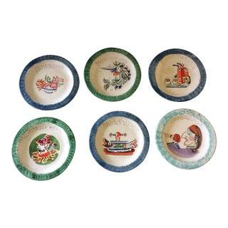 Mid Century Desimone Plates - Set of 6 For Sale