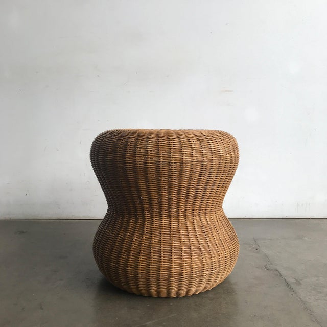 1980s Late 20th Century Rattan Side Table For Sale - Image 5 of 10