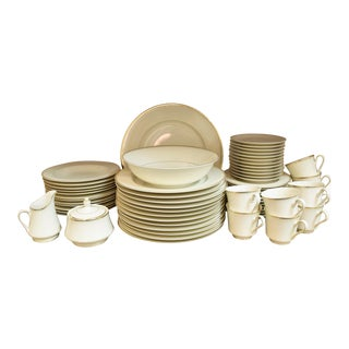Mikasa Ivory and Gold China Set - 62 Pieces