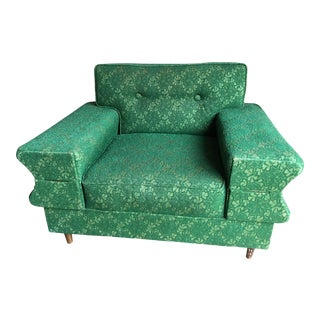 Vintage Green Lace Accent Chair
