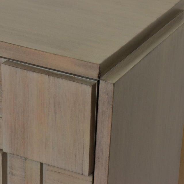 Axo Lane Mid-Century Modern Brutalist Credenza Dresser in Custom Grey Finish For Sale - Image 4 of 8
